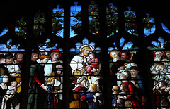 Stained glass window in St Peter and St Paul Church, Lavenham, Suffolk, England