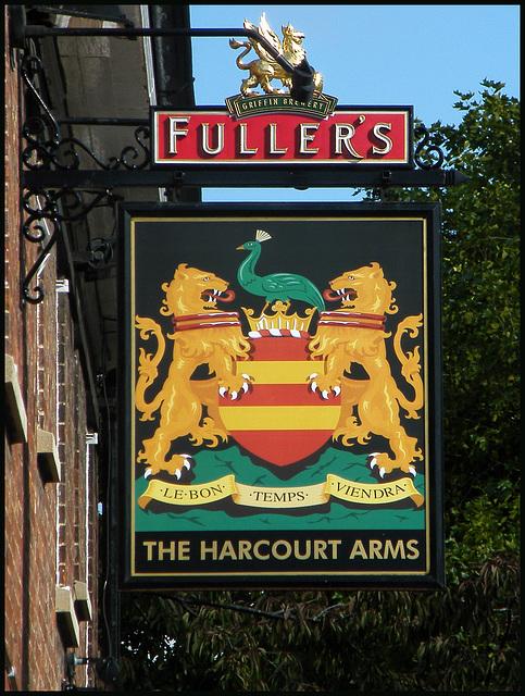 Harcourt Arms pub sign