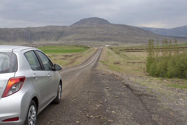 Typical Iceland back road
