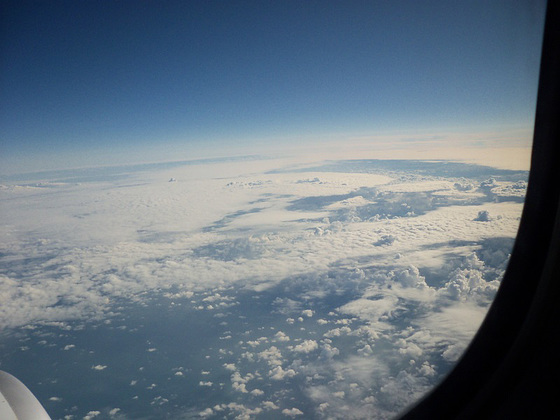 About 35,000 feet up over France