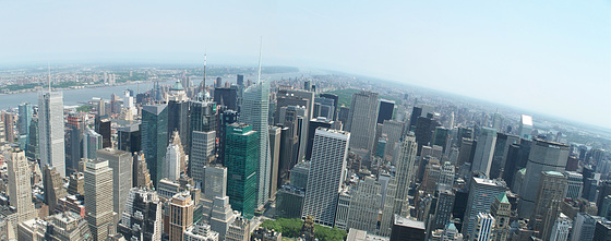 View from Empire State Building in New York