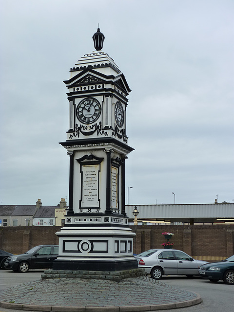 Holyhead Station Clock Tower (1) - 1 July 2013