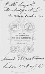 Vincenzo Montanaro's autograph at the back
