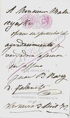 Juan Bou Roig's autograph at the back