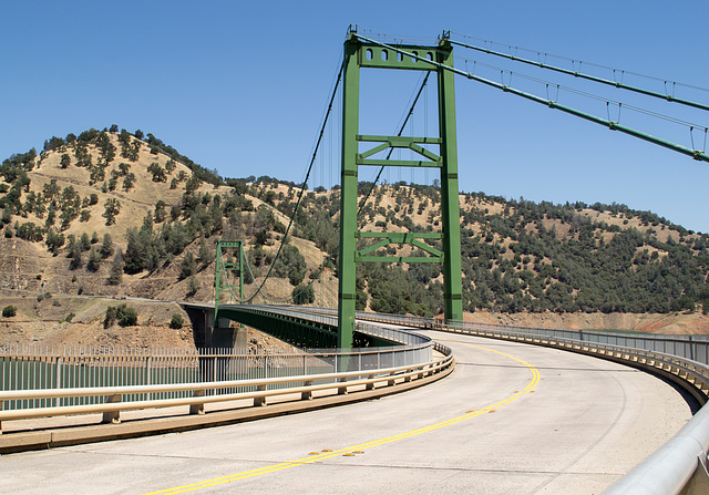 Oroville Bidwell Bar Suspension Bridge (0138)