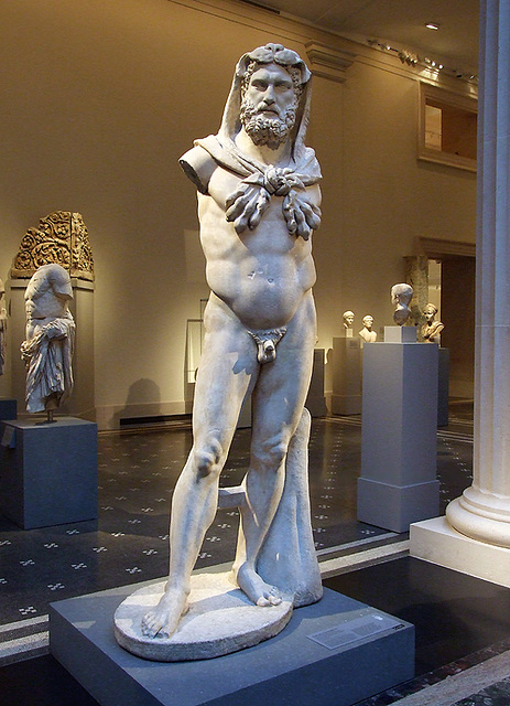 the marble statue of a bearded hercules Academiaedu is a platform for academics to share research papers.
