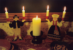 Candles and Candlesticks at the Broken Bridge Twelfth Night Celebration, Dec. 2006