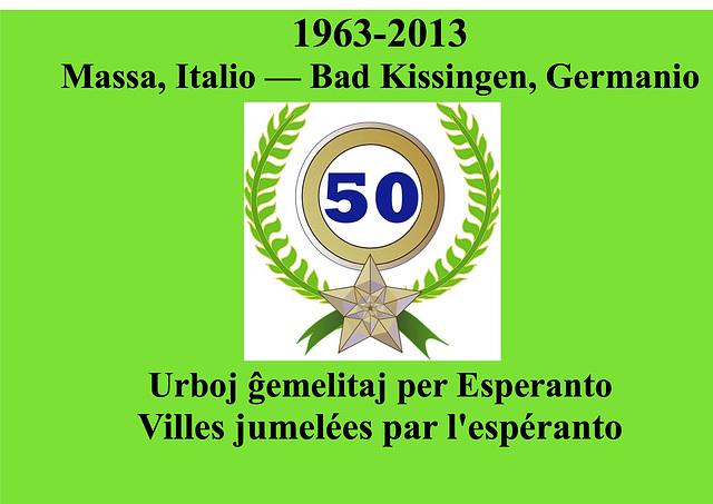 60 — Massa poste ĝemeliĝis ankaŭ per Esperanto kun Kameoka, Japanio,  kaj  Knittelfeld, Aŭstrio. Vd : Trarigardo de la E-Gazetaro - 25.04.06  / Massa s'est ensuite jumelée avec Kameoka, au Japon, et K