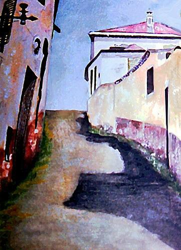 Uphill Street - Evora, Portugal