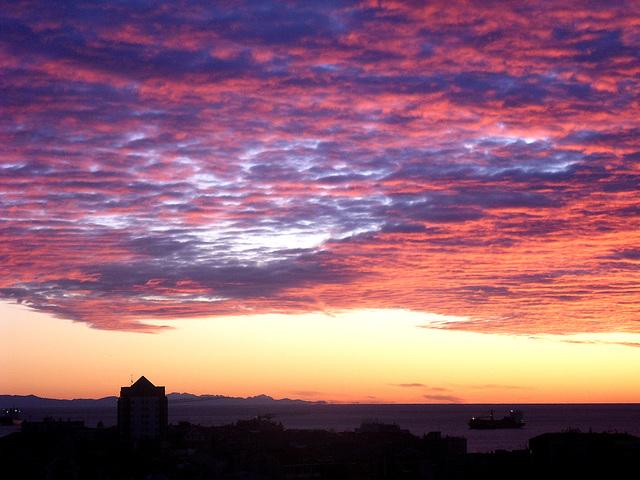 un'alba dal mio balcone