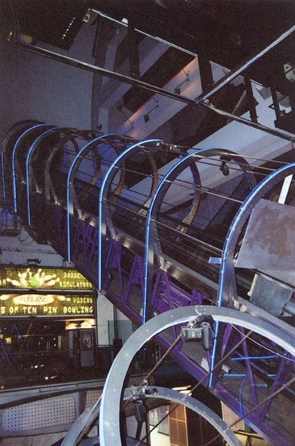 Escalators in the Trocadero in London, 2004