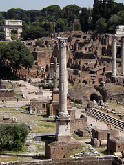 The Column of Phocas from the Tabularium in Rome, June 2012