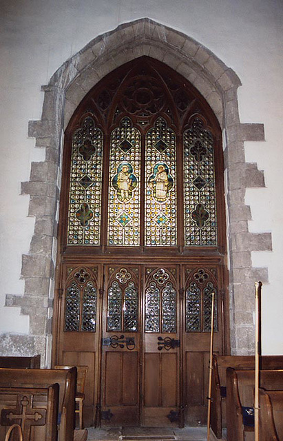 Stained Glass Windows and Entry to St. Mary's Church, 2004