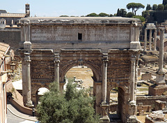 The Arch of Septimius Severus in the Roman Forum, July 2012