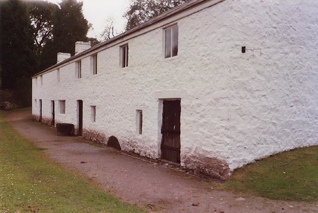 Exterior of the Esgair Moel Textile Mill in the Museum of Welsh Life, 2004