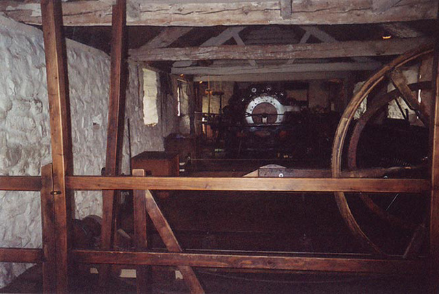 Interior of the Esgair Moel Textile Mill in the Museum of Welsh Life, 2004