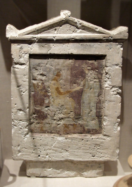 Painted Limestone Funerary Slab in the Metropolitan Museum of Art, February 2008