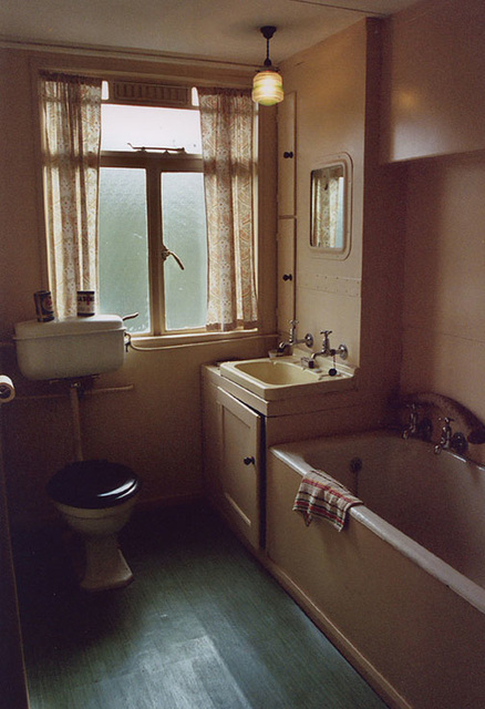 1950s Prefab House's Bathroom in the Museum of Welsh Life, 2004