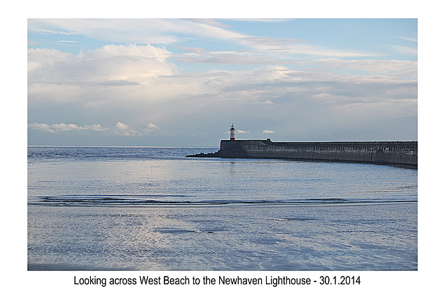 Across West Beach to Newhaven - 30.1.2014
