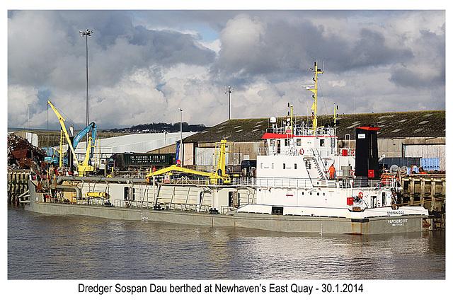 Dredger Sospan Dau - Newhaven - 30.1.2014