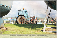 Ford tractor Newhaven Marina  - 30.1.2014