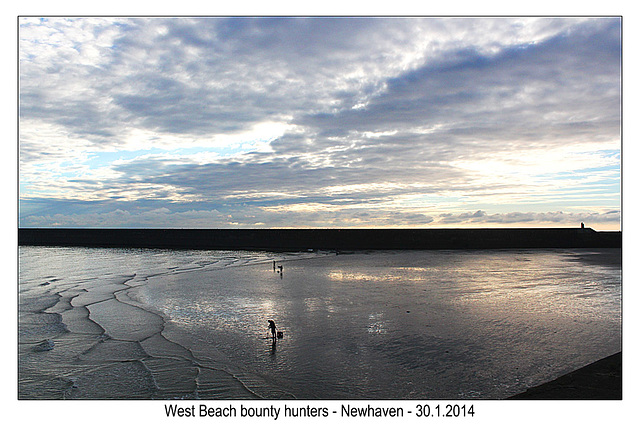 West Beach bounty hunters - Newhaven - 30.1.2014