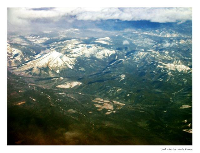 Flying over Sachalin