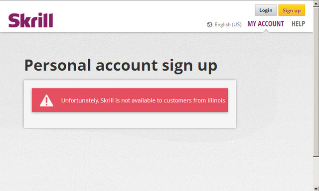 Skrill Not Available