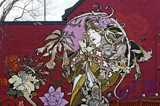 Inspiration by Mucha – Augusta Avenue at Oxford Street, Toronto, Ontario