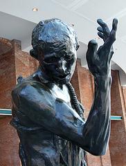 Detail of Pierre de Wiessant by Rodin in the Brooklyn Museum, August 2007