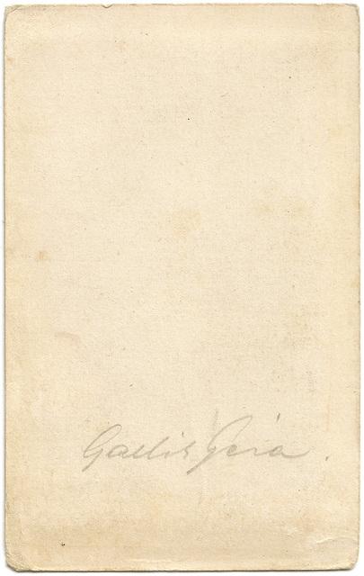 Portrait of Gallik Géza (1848-1900), verso