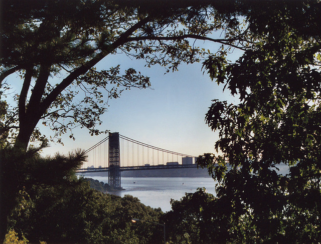 View of the George Washington Bridge From Fort Tryon Park, Oct. 2006