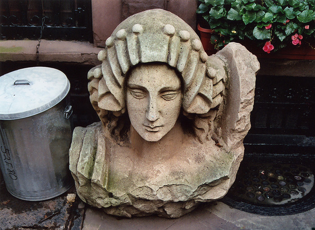 Sculptural Head from the Original Ziegfeld Theatre on the Upper East Side, Sept. 2006
