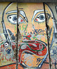 Detail of the Berlin Wall Fragment in Midtown Manhattan, August 2007