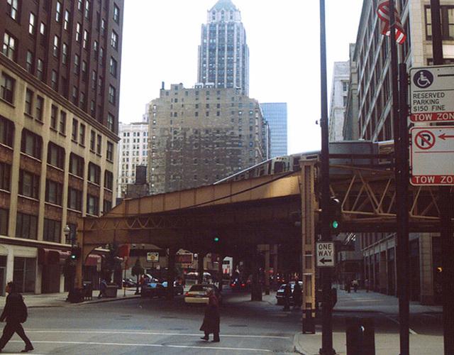 The El Train in Chicago, October 2001