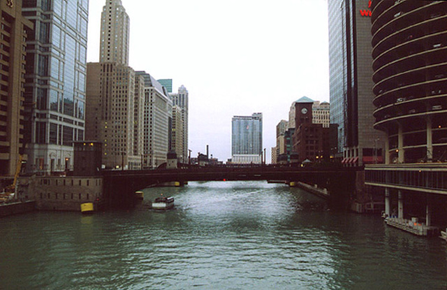 The Chicago River, October 2001