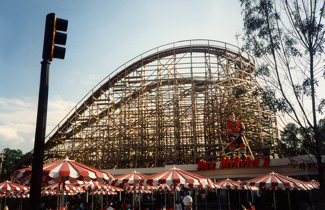 """Stan Mikita's & the """"Hurler"""" Roller Coaster at King's Dominion, 1994"""