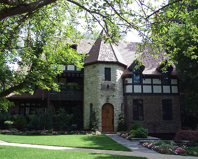 ipernity: Tudor House with Turret in Forest Hills Gardens