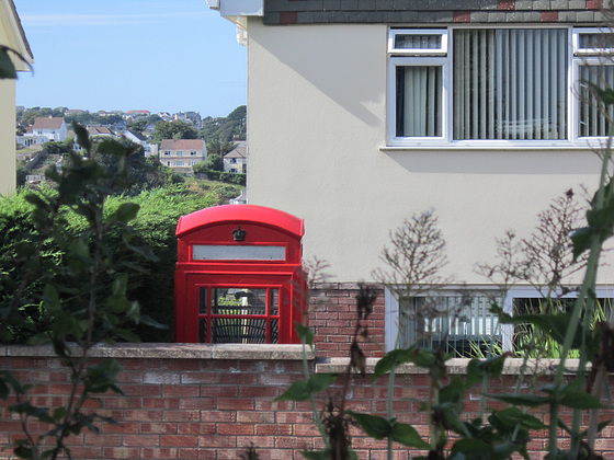 Neighbours opposite me have a lovely Royal Mail phone box in their garden