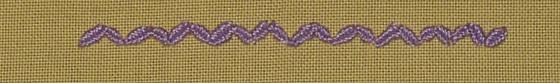 #75 - Woven Zig Zag Chain stitch