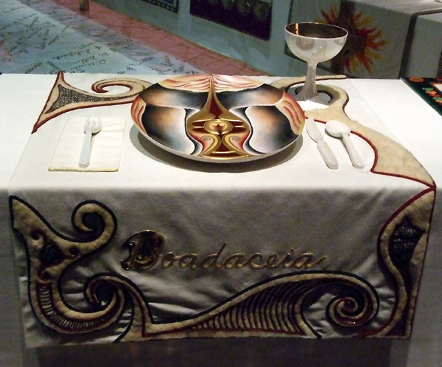Brooklyn Museum The Dinner Party Part - 42: Setting For Boadicea In The Dinner Party By Judy Chicago In The Brooklyn  Museum, August 2007