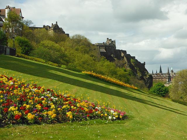 Edinburgh Castle from a park