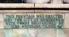 Inscription on the Fountain Near the Kew Gardens Courthouse, Sept. 2006