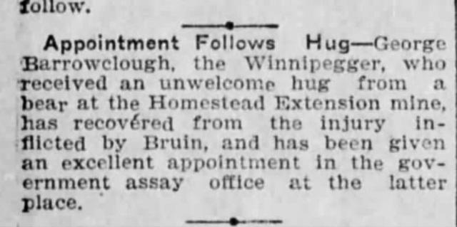 Barrowclough in Lead, S.D. (Feb. 1906)