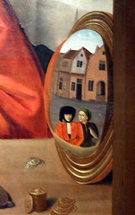 Detail of A Goldsmith in his Shop, Possibly Saint Eligius by Petrus Christus in the Metropolitan Museum of Art, January 2008