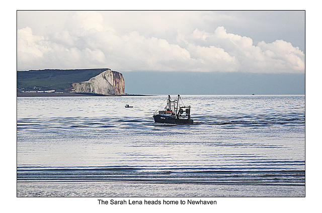 Sarah Lena heads home to Newhaven - 30.1.2014
