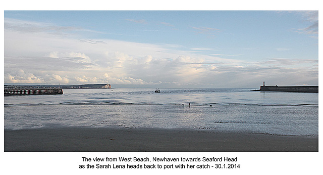 Sarah Lena returns to Newhaven - 30.1.2014