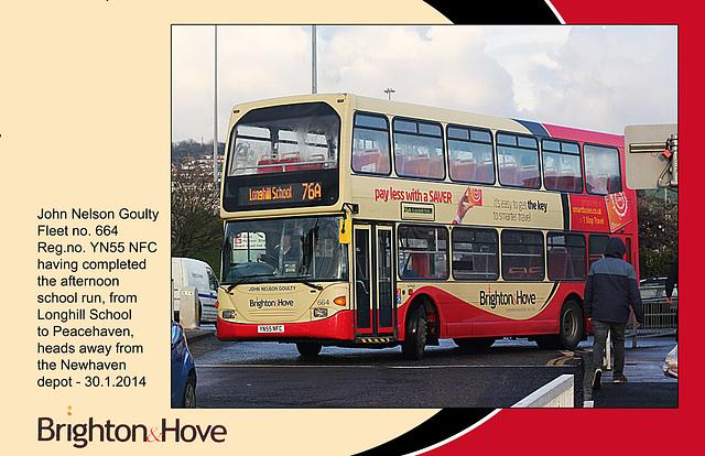 B&H 664 John Nelson Goulty - Newhaven - 30.1.2014