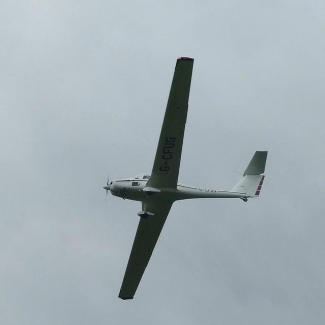 G-CFUG approaching Lee on Solent - 2 June 2014