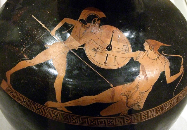 Ipernity Detail Of A Terracotta Hydria With Achilles Amp Penthesilea By The Berlin Painter In The